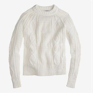 J. Crew Cotton Cable Knit Sweater Size S